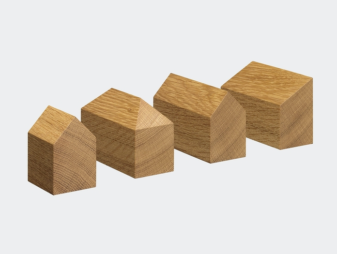 E15 Haus Paperweights Oak Jan Philip Holler