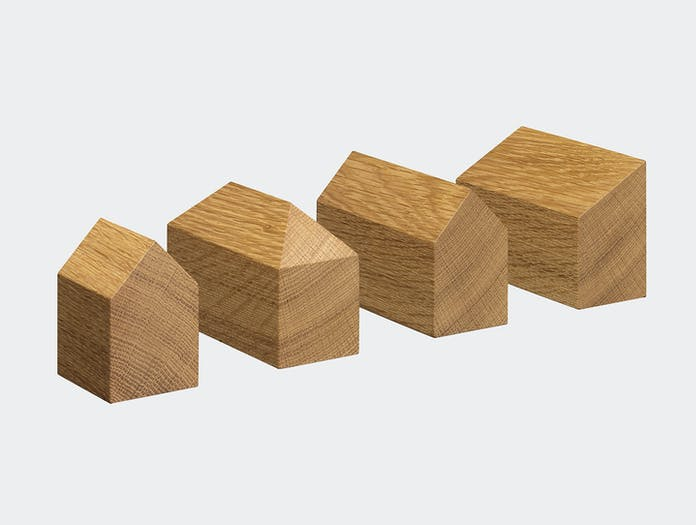 E15 Haus Paperweights Oak Jan Philip Holler