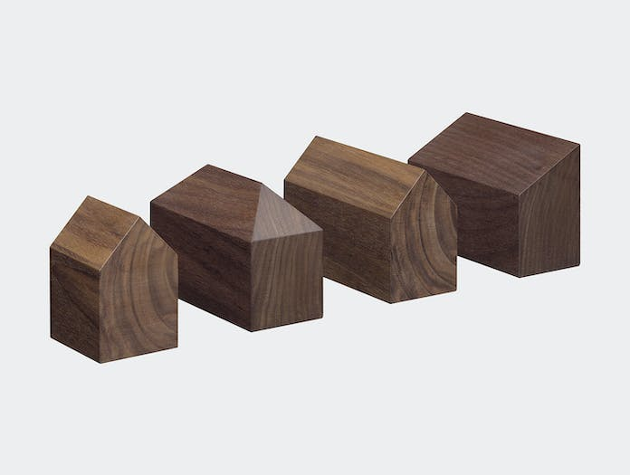 E15 Haus Paperweights Walnut Jan Philip Holler