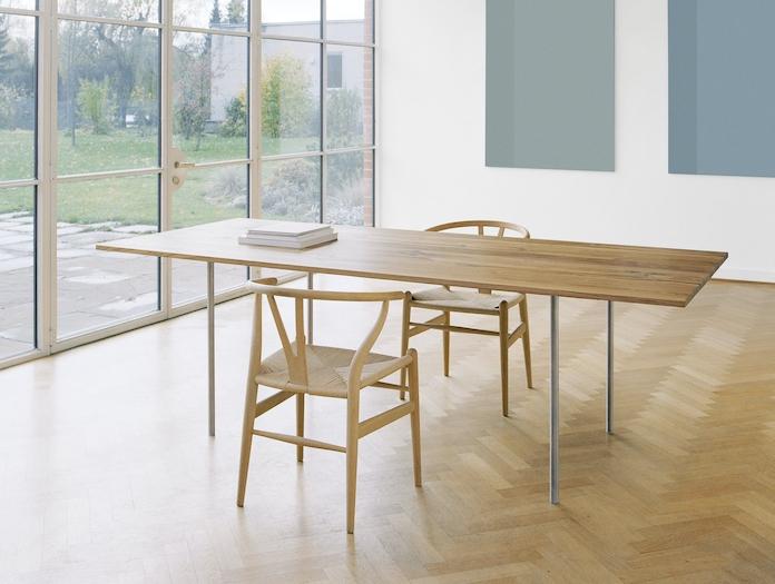 E15 Anton Table Oak St Steel Philipp Mainzer