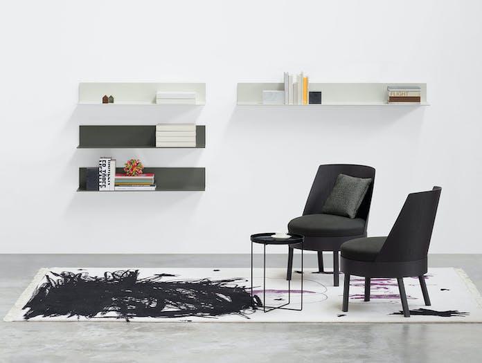E15 Bessy Lounge Chair Black Stefan Diez