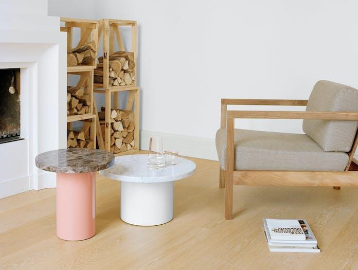 E15 Enoki Side Table Pink White Philipp Mainzer