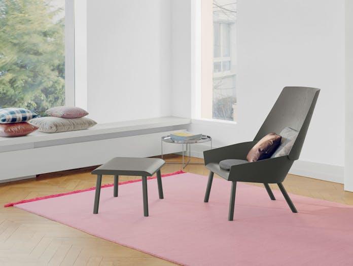 E15 Eugene Lounge Chair Grey Stefan Diez