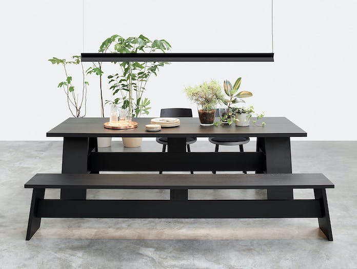 E15 Fayland Table Oak Black Stained David Chipperfield
