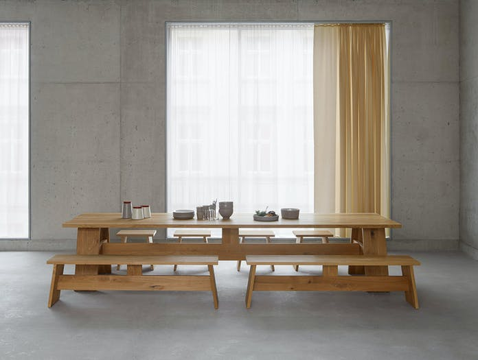 E15 Fayland Table Oak Fawley Benches David Chipperfield