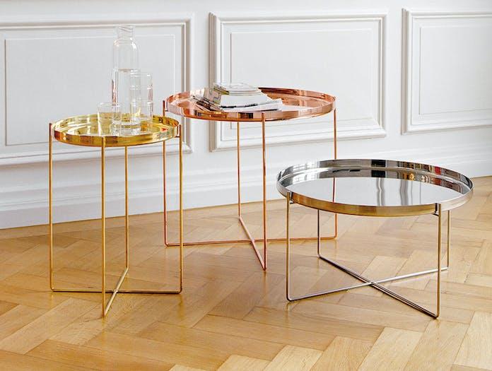 E15 Habibi Table Brass Copper Steel