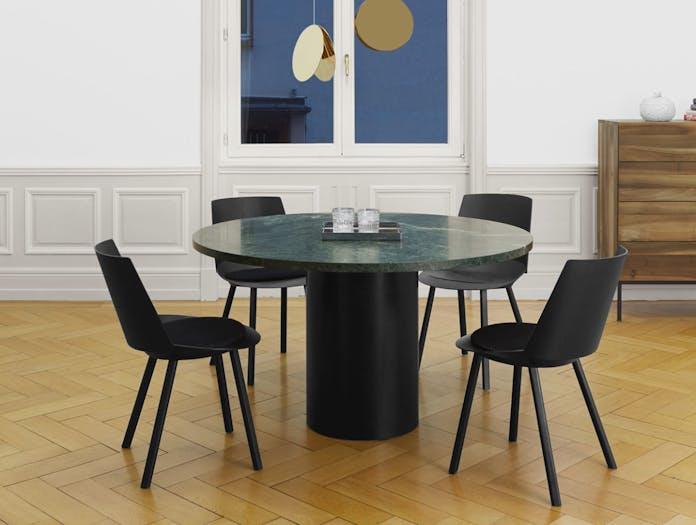 E15 Hiroki Table Green Marble Philipp Mainzer