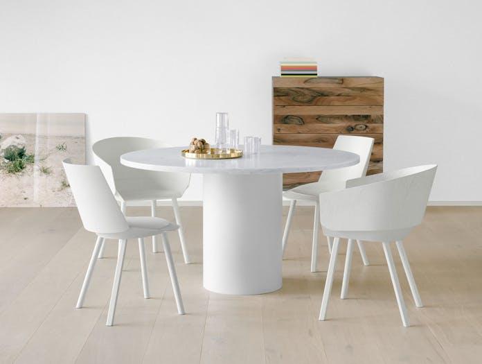 E15 Hiroki Table White Carrara Marble Houdini Philipp Mainzer