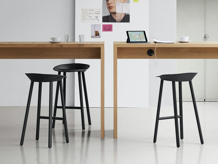 E15 Jean Stool Black Group Stefan Diez