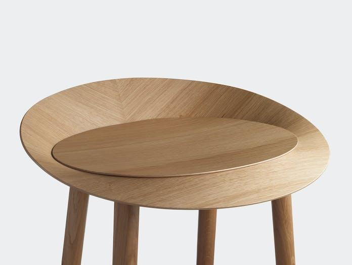 E15 Jean Stool Oak Seat Detail Stefan Diez