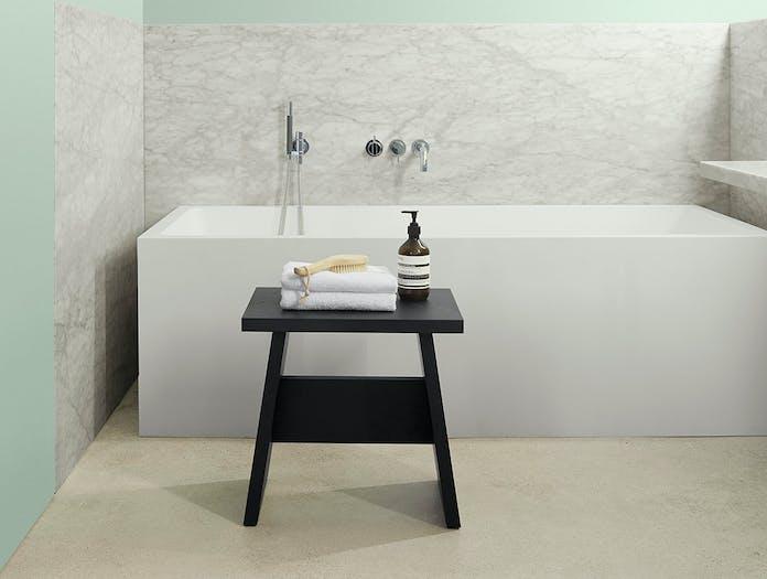 E15 Langley Stool Bathroom Black David Chipperfield