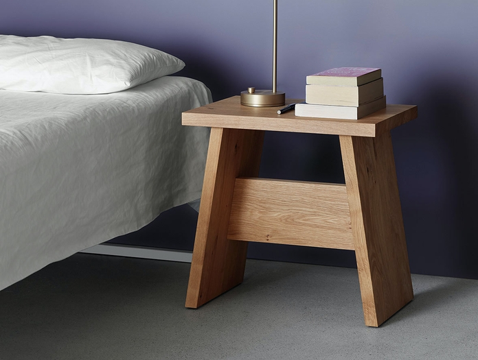 E15 Langley Stool Bedside Table Oak David Chipperfield