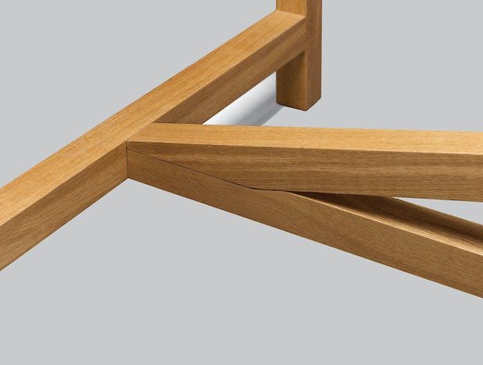 E15 Platz Table Oak Brace Detail Jorg Schellmann 1