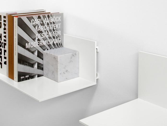 E15 Profil Shelf White Open End Jorg Schellmann