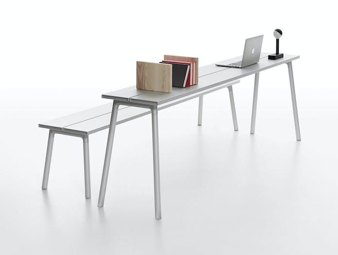 Emeco run narrow table bench aluminium kim colin sam hecht