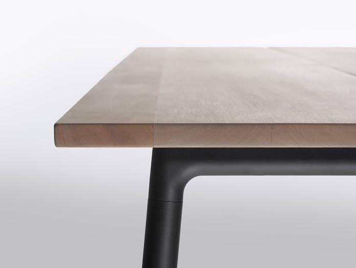 Emeco run table detail black frame kim colin sam hecht