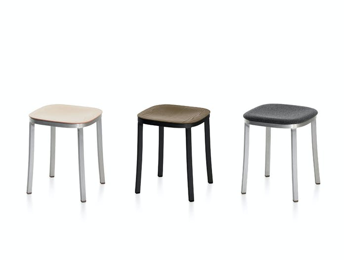 Emeco 1inch small stools by jasper morrison