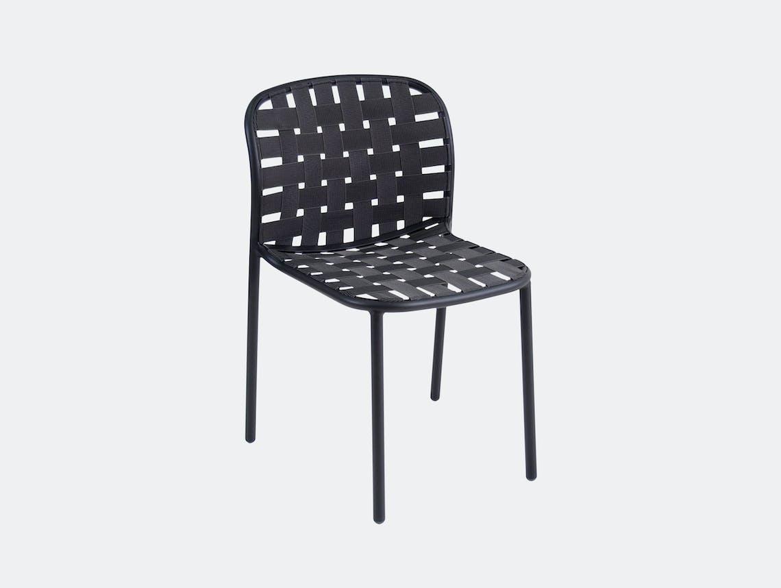 Emu Yard Dining Chair Black Stefan Diez