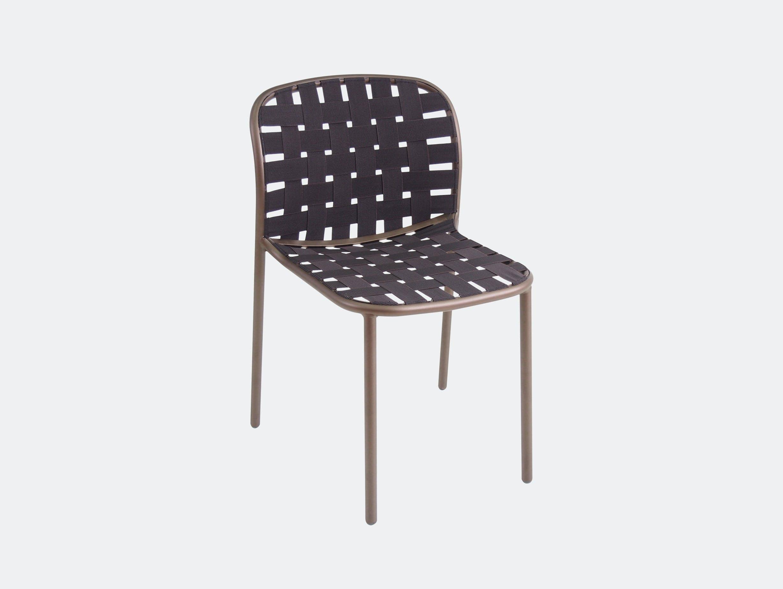 Emu Yard Dining Chair Brown Stefan Diez