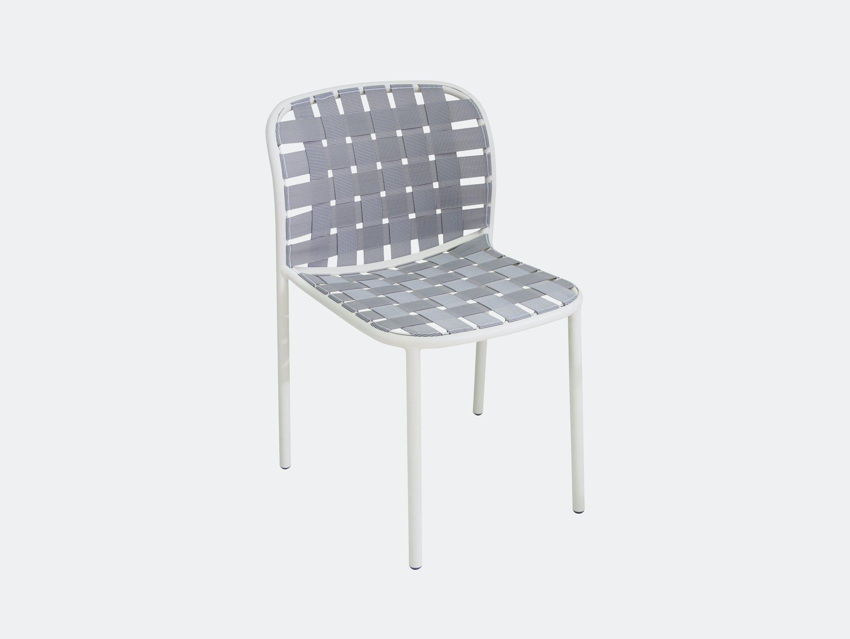 Emu Yard Dining Chair White Grey Stefan Diez