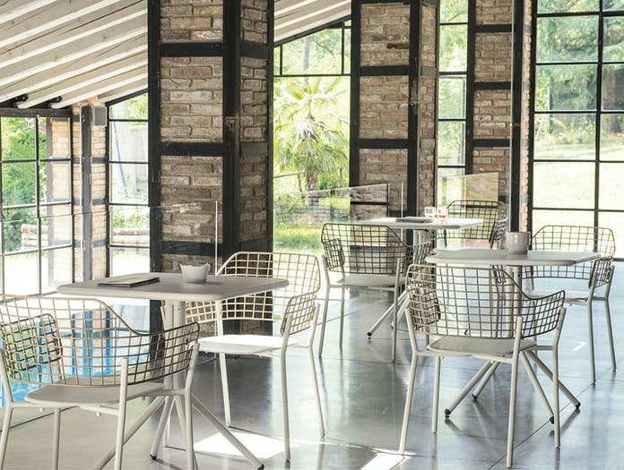Emu Lyze Outdoor Armchair Cafe