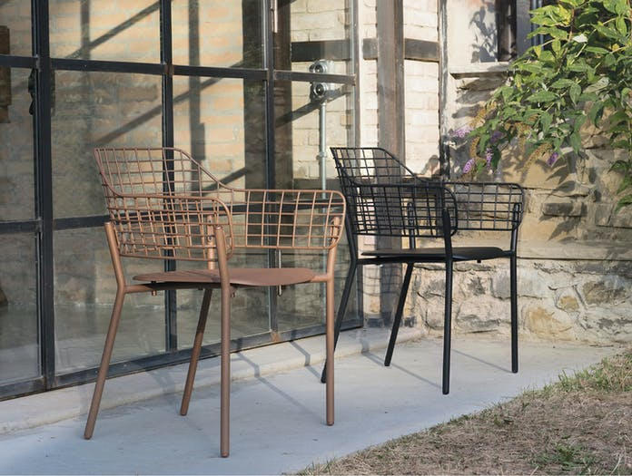 Emu Lyze Outdoor Armchairs Copper And Black