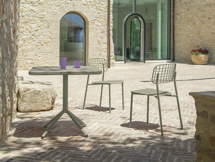 Emu Lyze Outdoor Chairs Grey Green