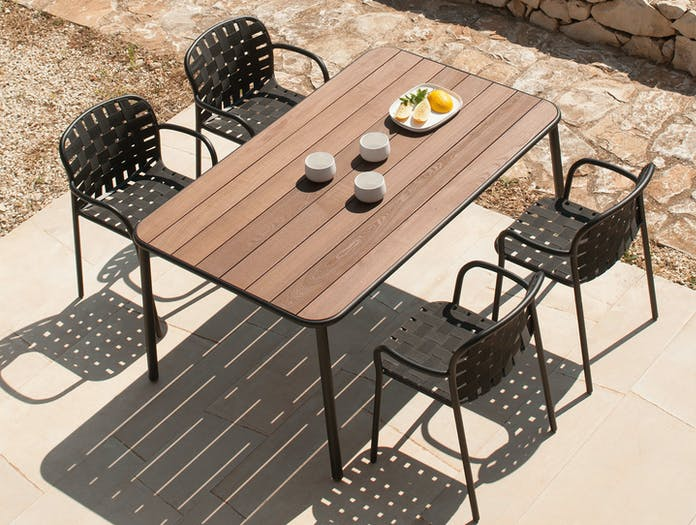 Emu Yard Dining Chairs And Table 2 Stefan Diez