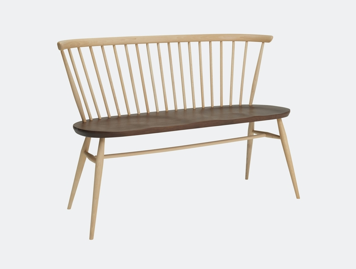Ercol Originals Love Seat With Walnut Lucian Ercolani