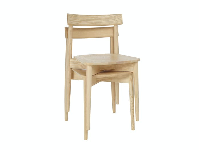 Ercol Lara Chair Ash Stacked