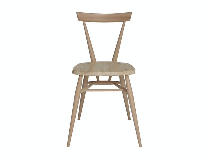 Ercol Originals Stacking Chair Front Lucian Ercolani