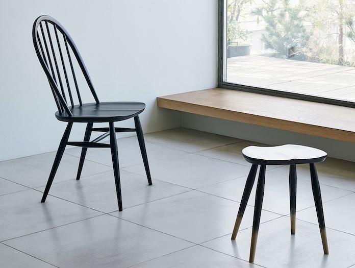 Ercol Windsor Quaker Chair Black Lucian Ercolani