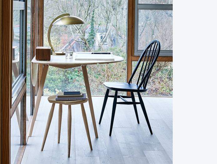 Ercol Windsor Quaker Chair Blk Lucian Ercolani