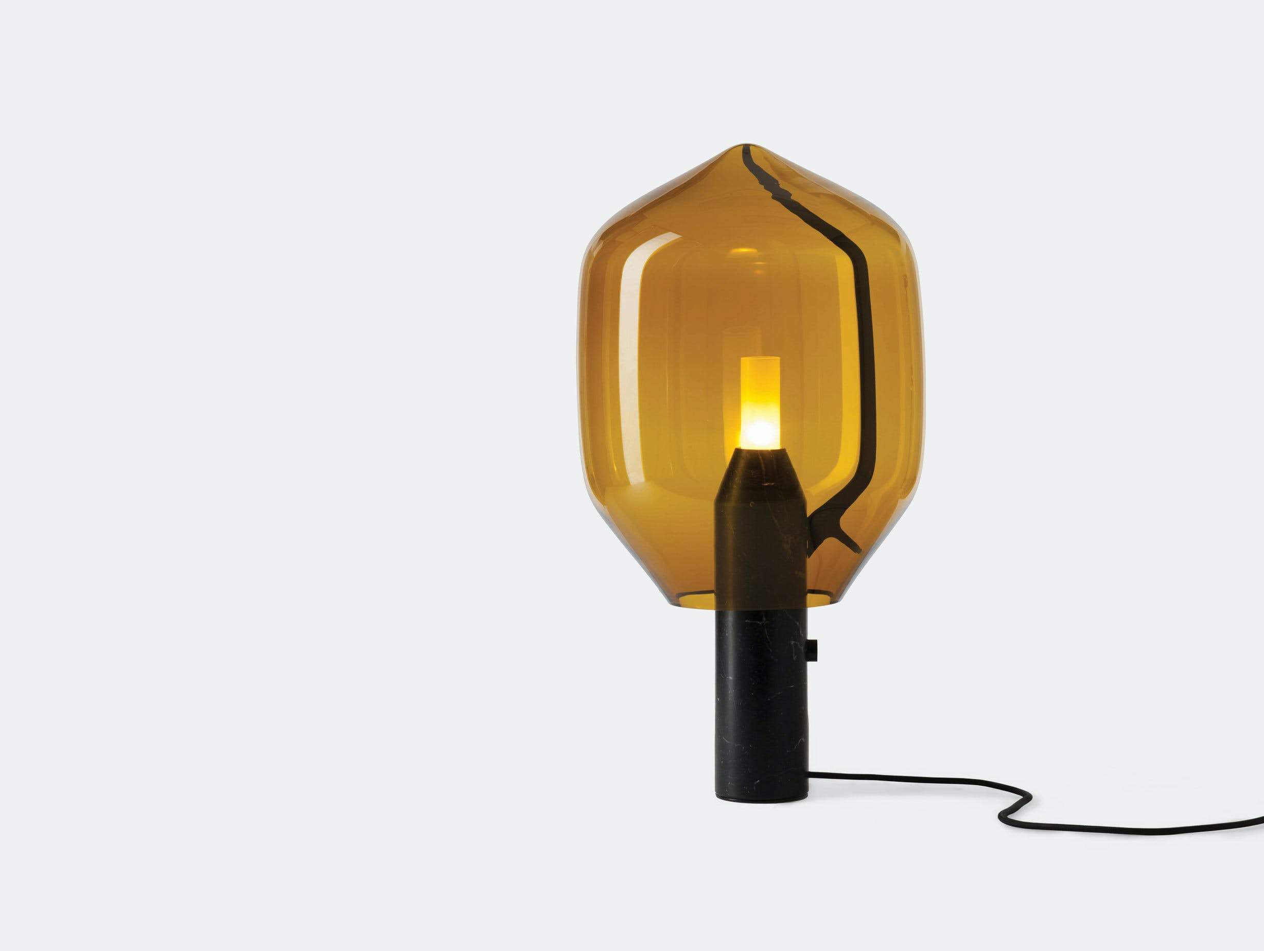 Established And Sons Lighthouse Table Lamp Amber Ronan And Erwan Bouroullec