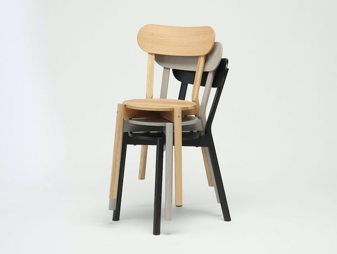 Karimoku Castor Chairs stacked Big Game
