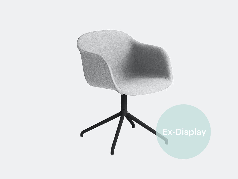 Muuto fiber armchair grey black xdp 01