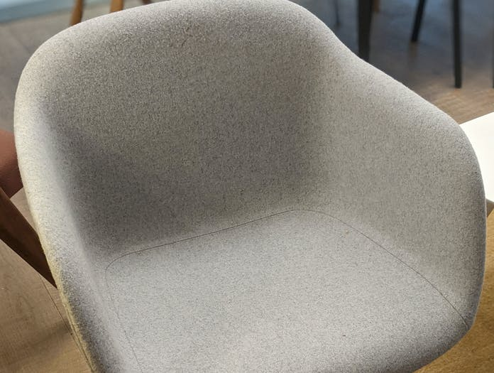 Muuto fiber armchair grey black xdp 03