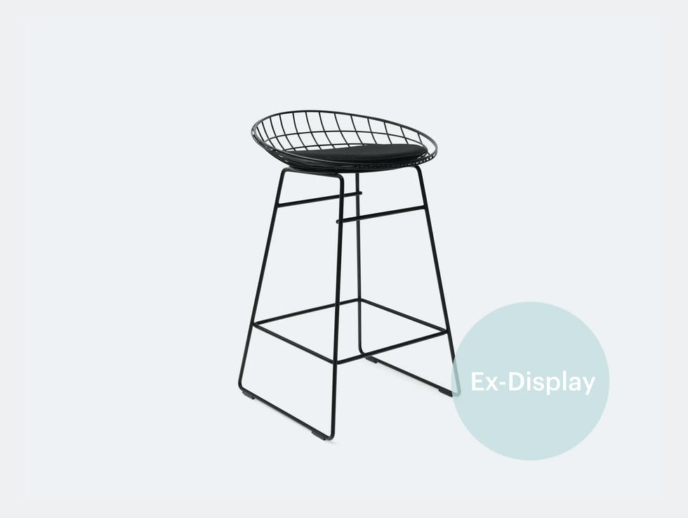 KM06 Wire Stool, Black / 50% off at £252 image
