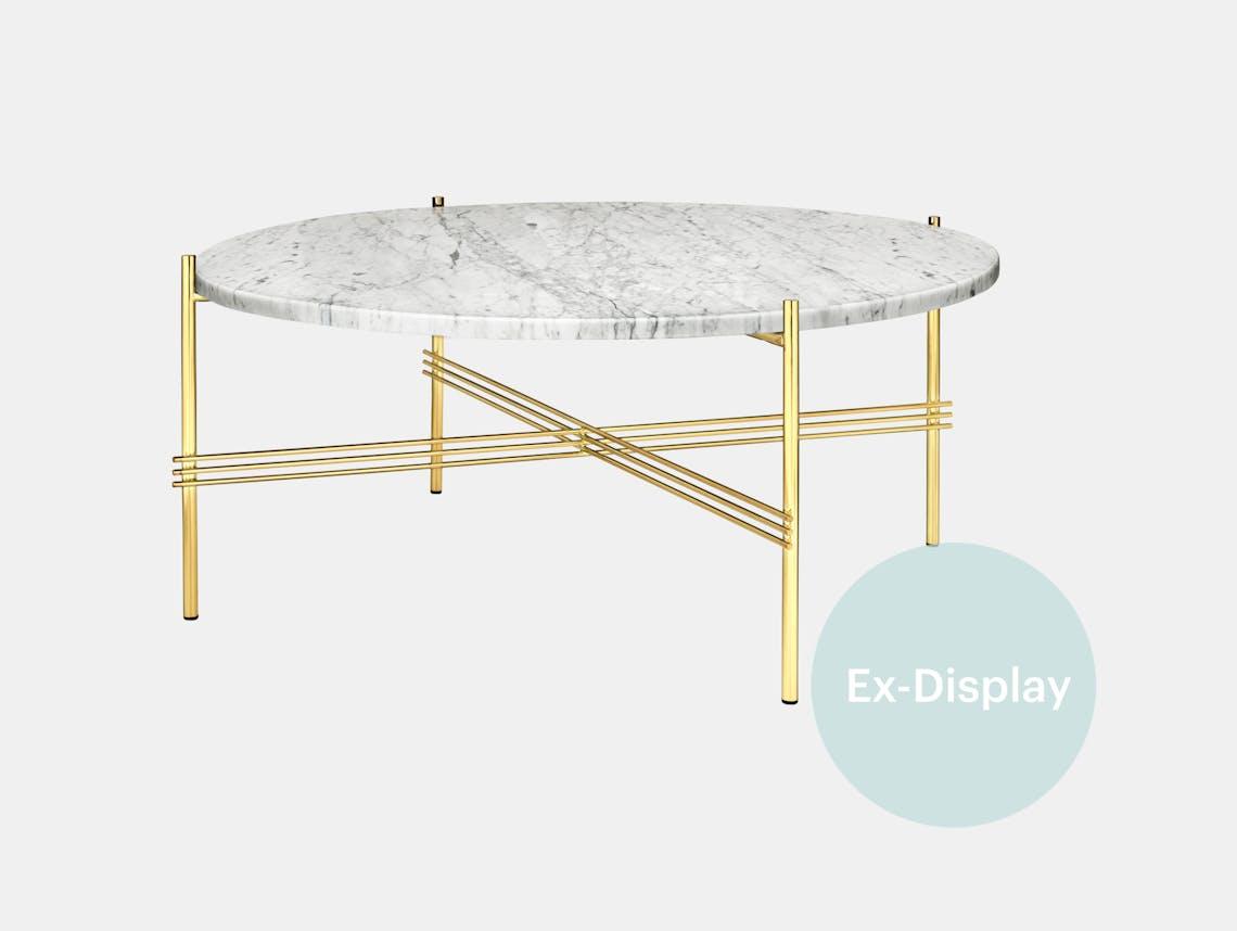 Xdp gubi ts coffe table white marble brass sale
