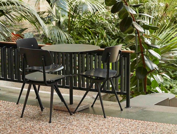 Xdp hay terrazzo dining round black sale ls