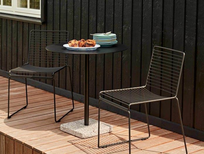 Xdp hay terrazzo dining round black sale ls3