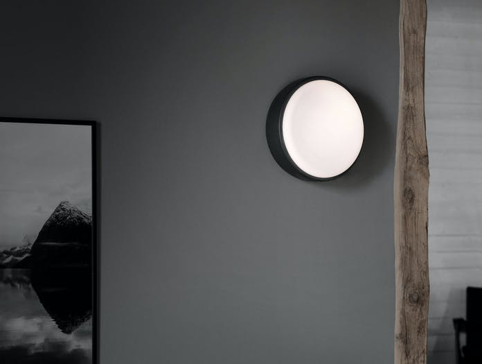Xdp northern over me wall lamp 40 dk grey ls