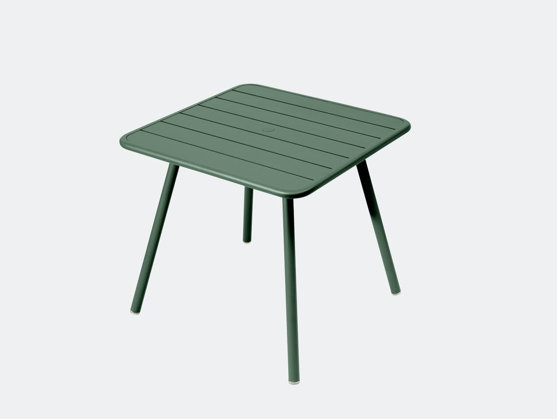 Fermob luxembourg table 80 cedar green