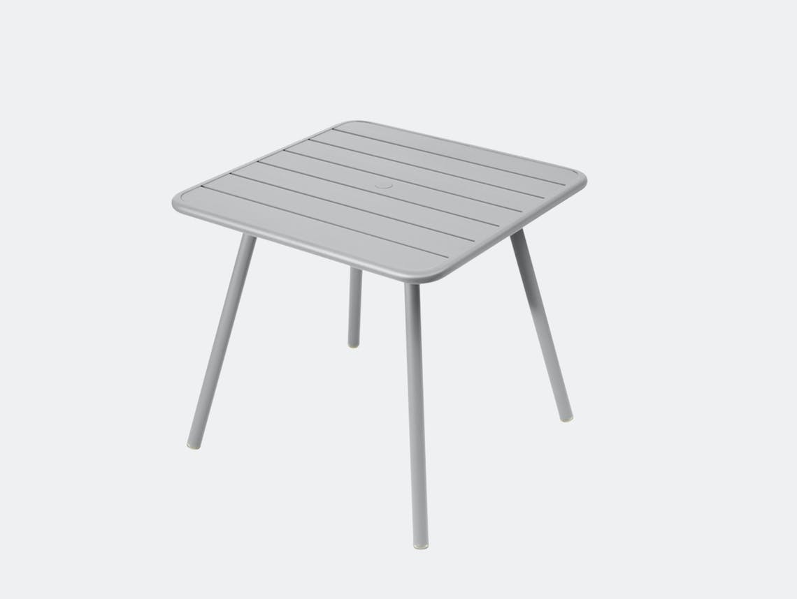 Fermob luxembourg table 80 steel grey