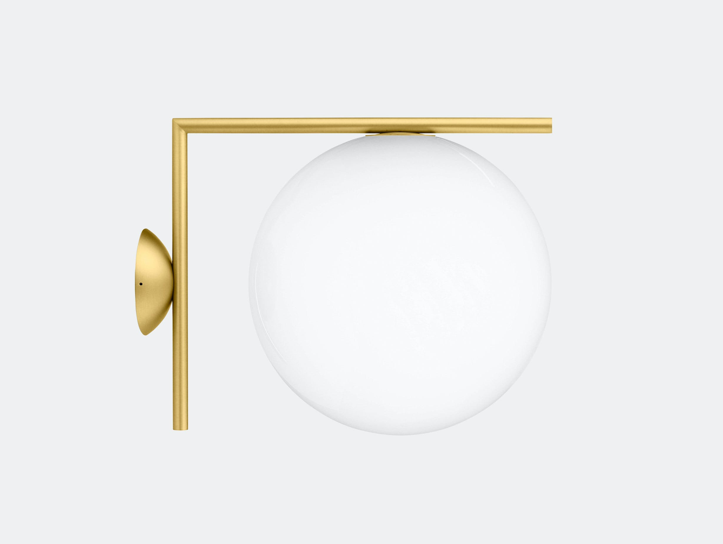 Flos Ic Ceiling Wall Light Cw2 Brass Michael Anastassiades