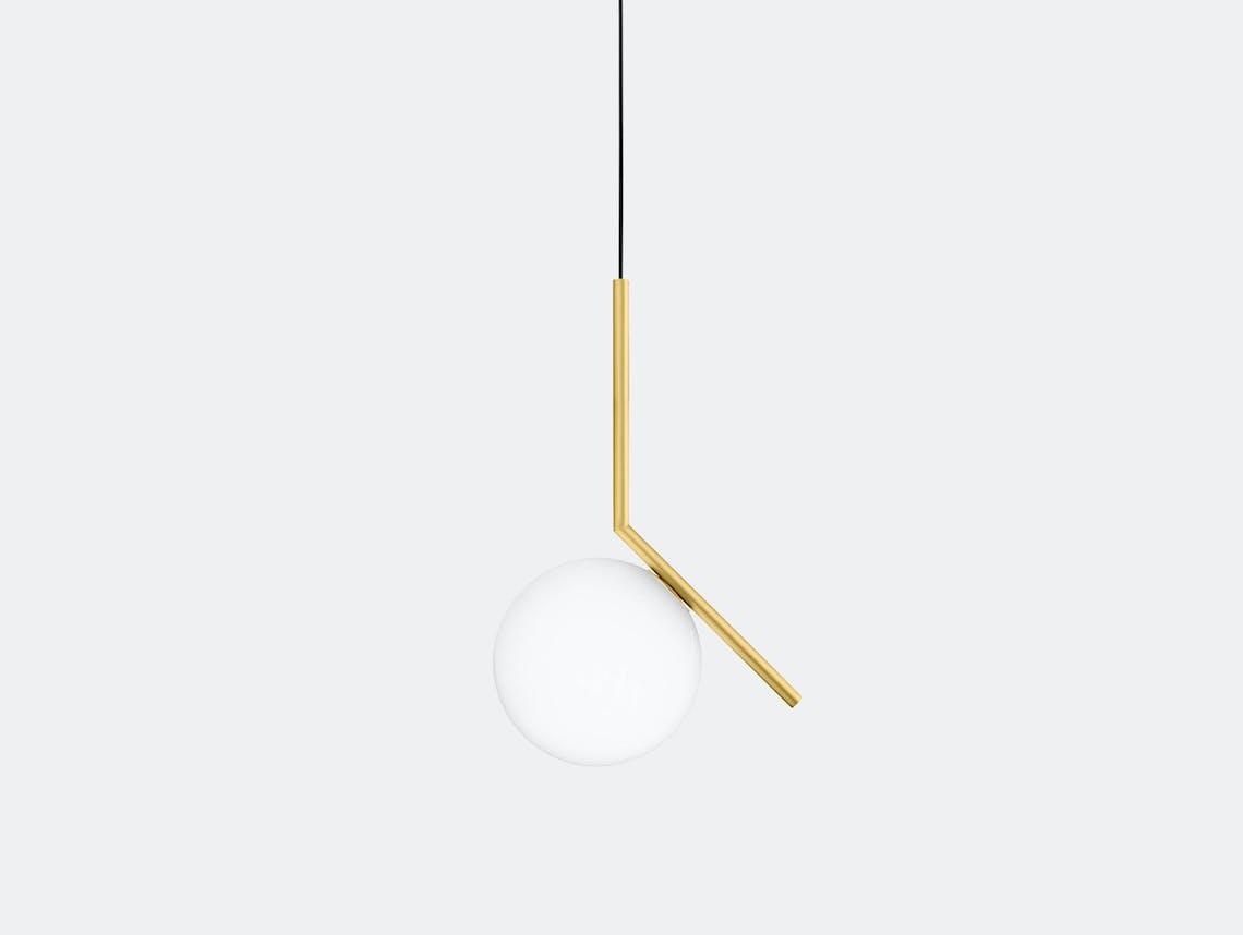 Flos Ic S1 Suspension Light Brass Michael Anastassiades