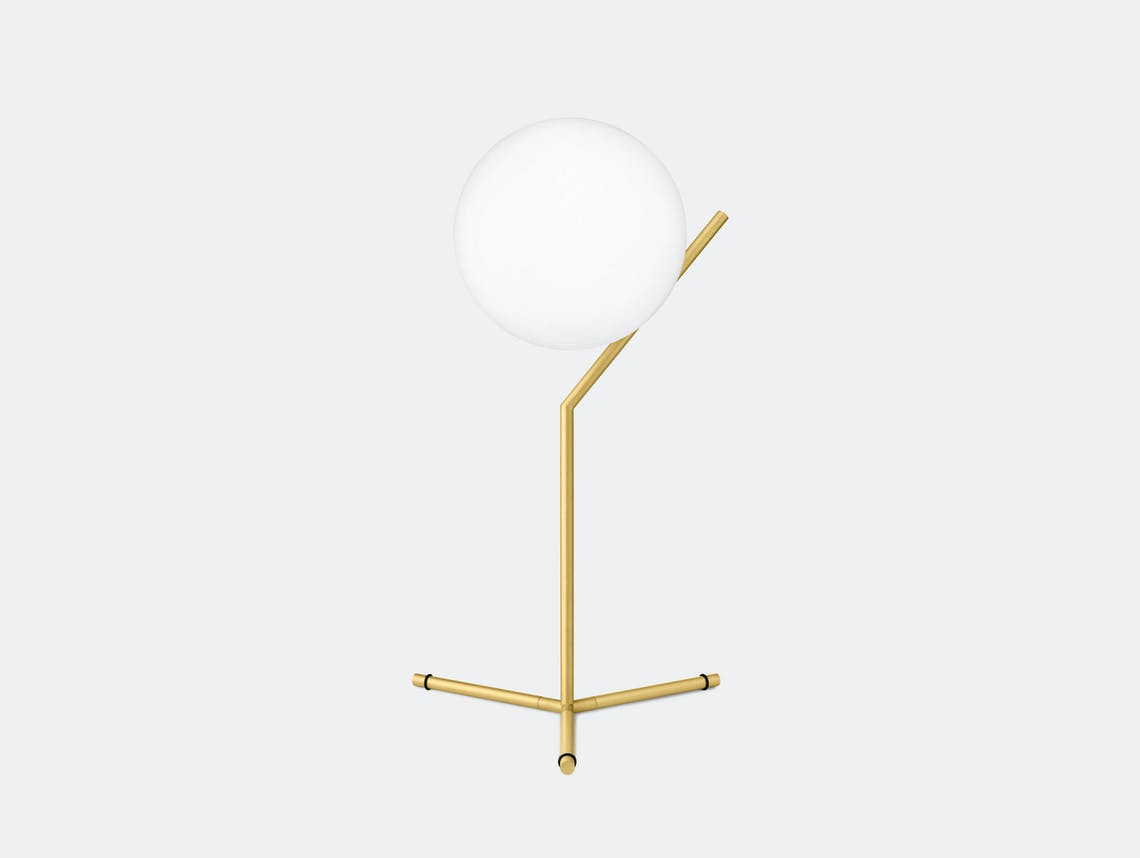 Flos Ic T1 High Table Light Brass Michael Anastassiades