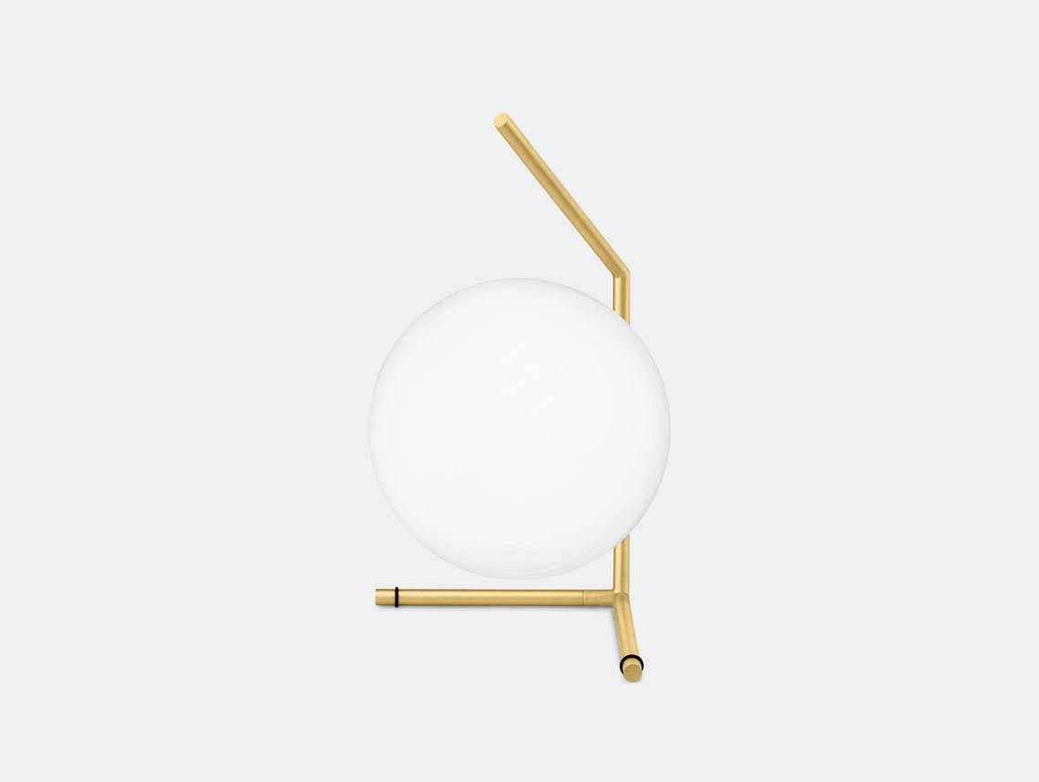 Flos Ic T1 Low Table Light Brass Michael Anastassiades