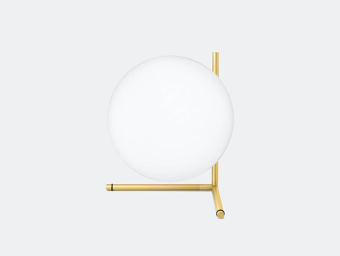Flos Ic T2 Table Light Brass Michael Anastassiades