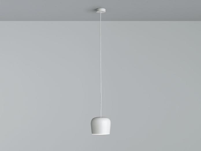 Flos Aim Small Pendant Light Straight Single White Ronan Erwan Bouroullec